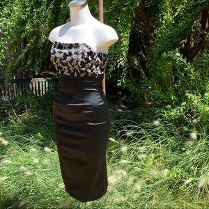 JS BOUTIQUE Black Strapless Party Dress Sz 8